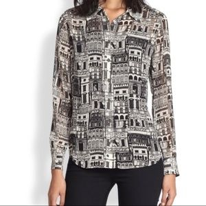 NWOT Banana Republic City Print Shirt
